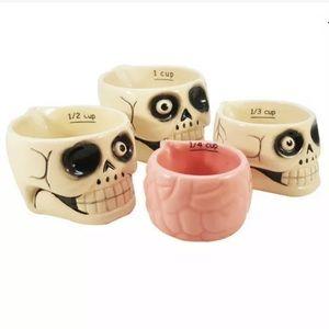 Zombie Skulls & Brain Measuring Cups Baking Cook